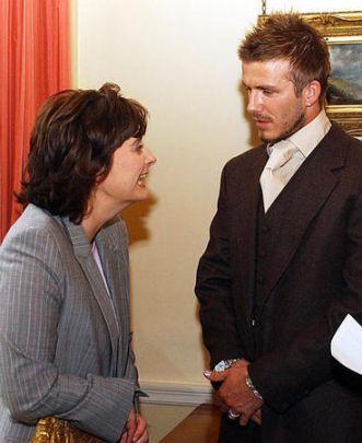 Beckham + Cherie Blair