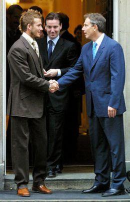 Beckham + Tony Blair